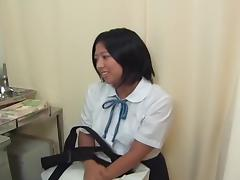 Lovely Japanese gal got her twat toyed at a gyno clinic tube porn video