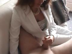 Nasty milf gives a handjob tube porn video