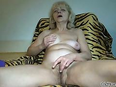 Nasty old woman goes crazy rubbing part4 tube porn video