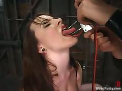 Dana Dearmond gets chained and enjoys a dildo in her cunt tube porn video