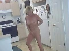 granny's horny in the kitchen tube porn video
