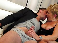 Granny love to fuck with guys in suits tube porn video