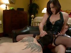 Cuckold Gets Strapon Fucked By Bobbi Starr in Femdom Video tube porn video