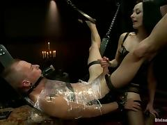 Extreme Bondage and Femdom Session with Pegging by Jessie Sparkles tube porn video