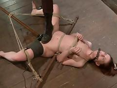 Bound AnnaBelle Lee gets toyed rough by a mistress tube porn video