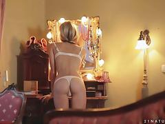 Exquisite Blonde Beauty Doris Ivy Masturbating in Hot Solo Video tube porn video