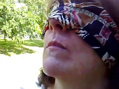 Blindfolded BJ by ABBEY in the park tube porn video