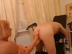 Assplay-Strapon Nurse gives him a Rectal Exam tube porn video