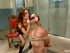 Gorgeous Gia Dimarco enjoys playing BDSM games with Jason Miller tube porn video