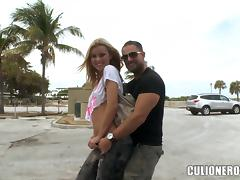 Jessie Rogers sucks a cock and takes a great ride on it tube porn video