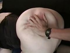BBW Ayla in Black Corset - Anal tube porn video