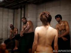 Hardcore Gangbang With One Wild Skinny Asian Hooker tube porn video