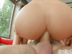 Brunette bombshell nomi gets her round ass fucked tube porn video