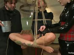 Busty beauteous Ripple DeGrey gets tortured in a basement and likes it tube porn video