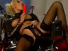 Hot chicks in stockings plus latex realize fucked by bikers tube porn video