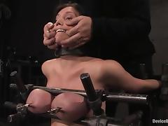 Claire Dames gets her boobs pressed increased by her abduct toyed tube porn video