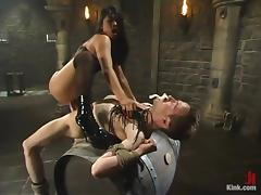 Morose Mika Tan whips get under one's person and rides his big dick tube porn video