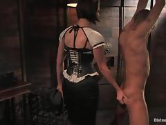 Mickey Mod gets tortured nearby hot wax and toys by a mistress tube porn video