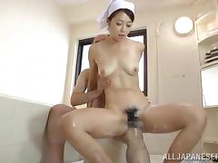 Sauna girl from Japan entertains that client in a traditional way tube porn video