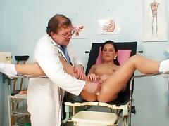 Small tit chick Rihanna Samuel and her doctor tube porn video