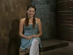 Nice babe in stockings gets tied up and tortured tube porn video