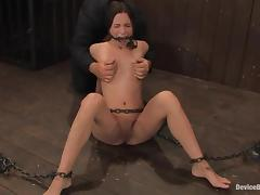 Even a ball gag can't suppress the passion of Amber Rayne tube porn video