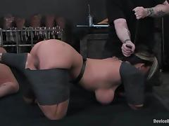 Alexa Jordan and Claire Dames play lesbian games in BDSM video tube porn video