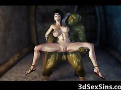 3D Evil Ogres Fuck a Princess! tube porn video