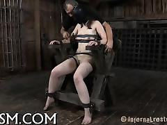 Chained babe needs sexy torture tube porn video
