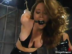 Femdom video with Shy Love getting punished by Christina Carter tube porn video