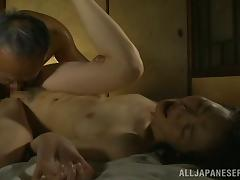 Passionate sex with a horny amateur mature from Japan tube porn video
