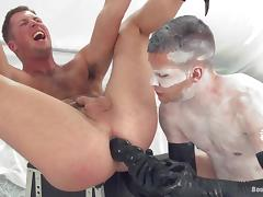 Tanner gets his balls tortured and ass fucked by Hayden tube porn video