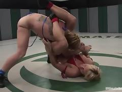 Booty and sexy fighters are on the pitch tube porn video