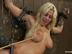 Lylith Lavey gets chained to a wall and fucked by a sex machine tube porn video