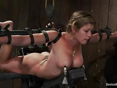 Two lewd milfs get chained and tormented in a cellar and enjoy it tube porn video