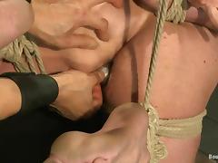 Muscular dude gets tortured and then ass fucked tube porn video