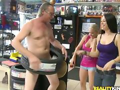 Outstanding Public Group Sex at an Electronic Store tube porn video