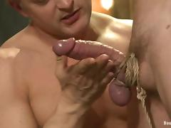 Lief Kaase gets toyed with electro dildo and fucked tube porn video