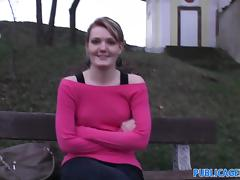 PublicAgent: Meggie seetles for Sex for Cash behind the church tube porn video