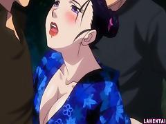 Hentai geisha gets gangbanged and facialed outdoors tube porn video