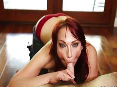 MommyBB Nikki Hunter jumps on a young boy tube porn video