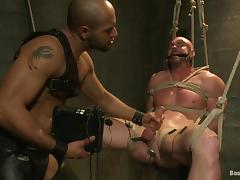 Leo Forte tortures Mitch Vaughn and fucks his butt from behind tube porn video