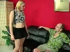 Nasty Man In Glasses Spanked That Cute Babes Hot Ass tube porn video
