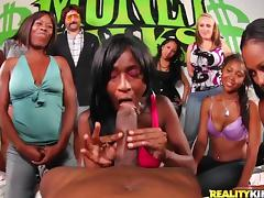 Ebony Funny Contest and Curly Hair Girl Gets Hardcore tube porn video