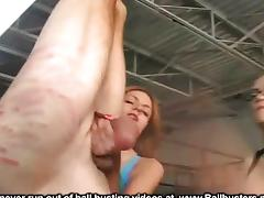 Upside Down Ball Busting tube porn video