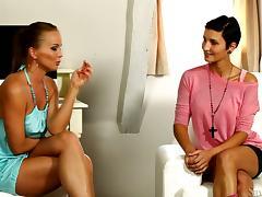 Silvia Saint interviews Gabriele Gucci for solo sex video tube porn video