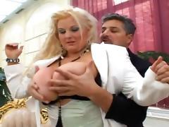 Busty mature Kirsten Halborg is banging tube porn video