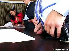 Stunning CEO Priya Rai wants teh board of directors to whoop out cocks tube porn video