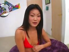 Lucy Lee gets two pies tube porn video