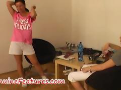Busty brunette doing nasty blow job tube porn video
